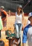 Jessica Alba grabs some pumpkins at Mr. Bones Pumpkin Patch