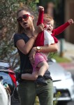 Jessica Alba visits the park with her daughter Haven