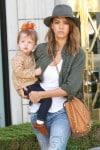 Jessica Alba with daughter Haven at Mr. Bones Pumpkin Patch