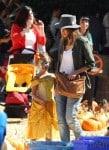Jessica Alba with daughter Honor at Mr. Bones Pumpkin Patch