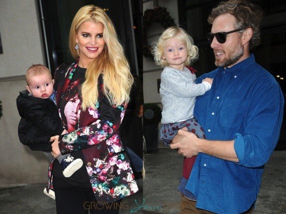 Jessica Simpson and Eric Johnson out in NYC with kids Maxwell and Ace