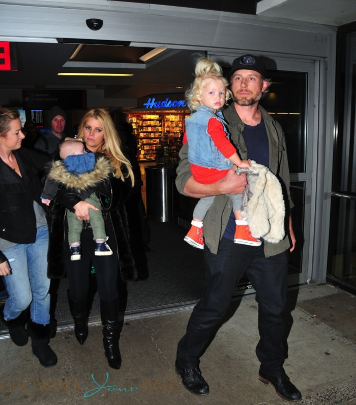 Jessica Simpson And Eric Johnson With Kids Maxwell And Ace