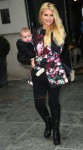 Jessica Simpson leaves her NYC hotel with son ACE