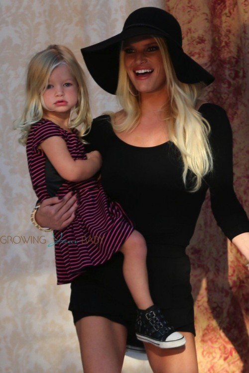 Jessica Simpson with daughter Maxwell in LA