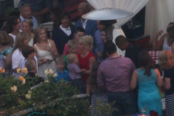 Jessica Simpson with son Ace at her pre-wedding 4th of July Barbeque