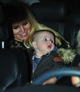 Jessica Simpson with son Ace in Boston