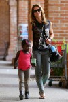 Jillian Michaels & Partner Heidi Rhoades Take Their Children Out For Lunch