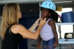 **EXCLUSIVE** Jillian Michaels takes her daughter Lukensia and son Phoenix horseback riding in Santa Barbara