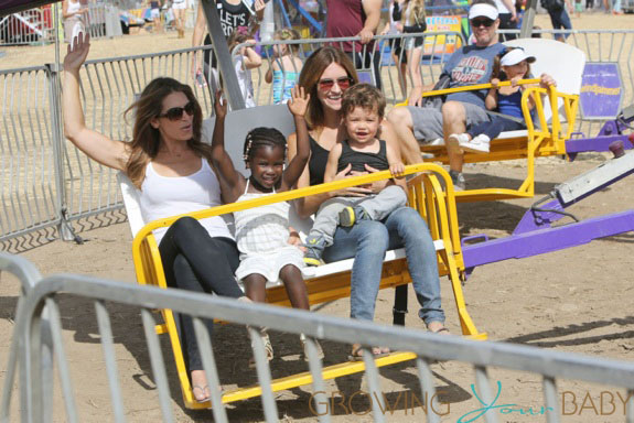 **EXCLUSIVE** Jillian Michaels and partner Heidi Rhoades enjoy the 32nd Annual Malibu Chili Cook Off with their children Lukensia and Pheonix in Malibu