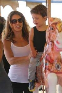 Jillian Michaels and  Heidi Rhoades enjoy the 32nd Annual Malibu Chili Cook Off with their children Lukensia and Pheonix