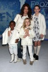 Joely Fisher with daughters Olivia, True and Skylar at Disney's Prozen Premiere