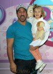 Joey Fatone and daughter Brihana at at Doc McStuffins event in LA