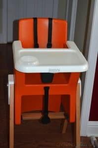 Joovy HiLo highchair in Orange