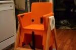 Joovy HiLo highchair - orange