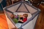 Joovy Moon room  - twins playing