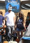 Josh Duhamel and Fergie at Mr. Bones Pumpkin Patch with son Axl