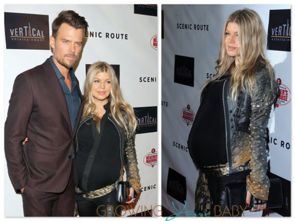Josh Duhamel and a Pregnant Fergie at premiere of Scenic Route