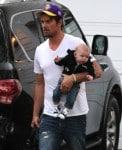 Josh Duhamel leaves Oliver Hudson's home with son AXL
