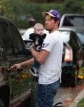 Josh Duhamel leaves Oliver Hudson's house with son AXL