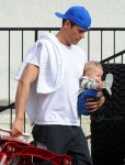Josh Duhamel out for breakfast with son Axl