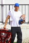 Josh Duhamel out with son Axl