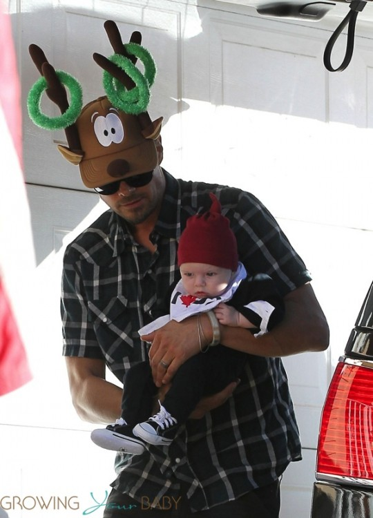 Josh Duhamel with son AXL on Christmas