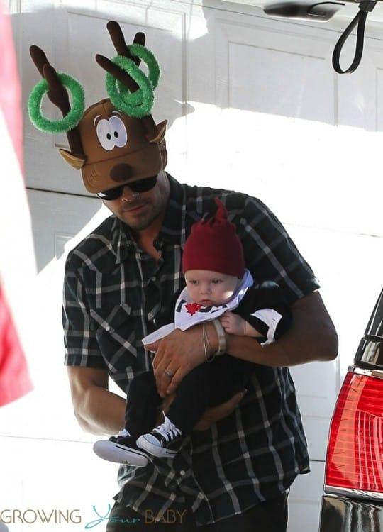 Josh Duhamel with son AXL on Christmas
