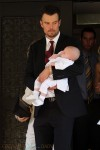 Josh Duhamel with son Axl at his baptism