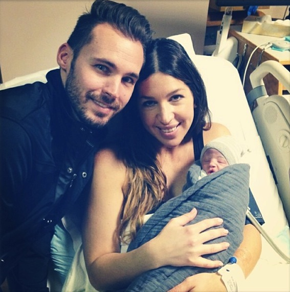 Josh and Robbyn Blick with their newborn son Zion