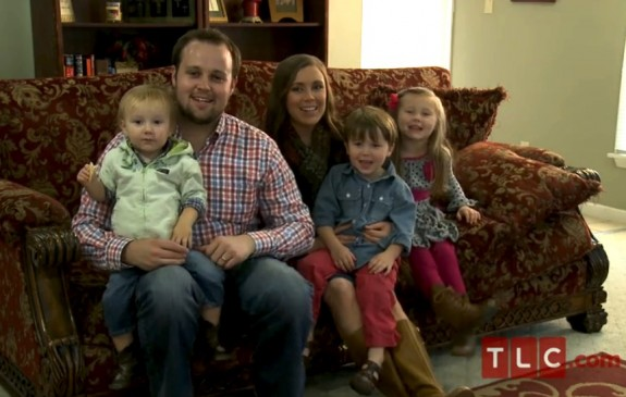 Josh and Anna Duggar with their kids Mackynzie, Marcus and Michael
