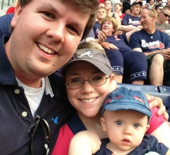 Justin Ross Harris with wife Leanne and son Cooper