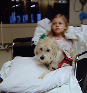 Kaelyn Krawczyk with her dog JJ