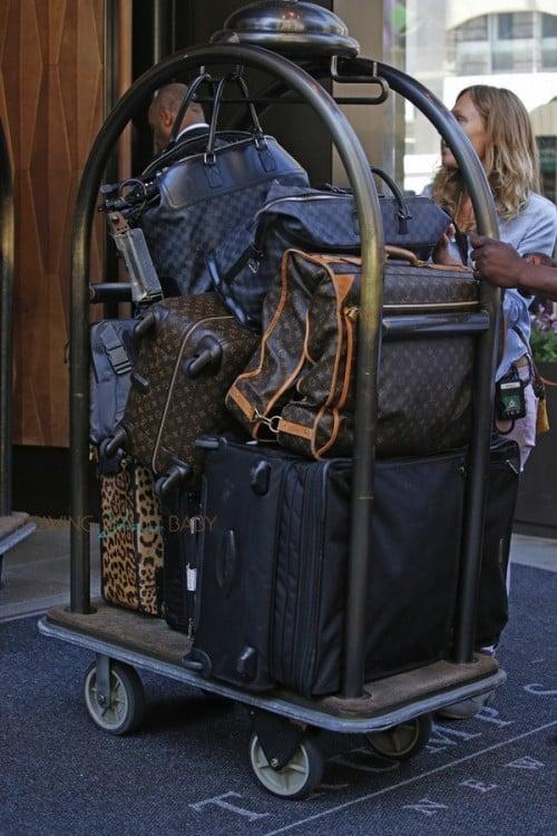 Kardashian's luggage in NYC