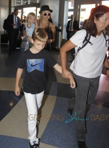 Kate Hudson Departs LAX with sons Bing and Ryder
