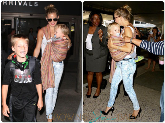Kate Hudson with her sons Bing and Ryder at LAX