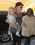 Kate Hudson with son Bing at LAX
