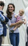Kate Middleton & Prince George Watch Prince William Play Polo