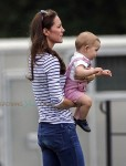 Kate Middleton and Prince George Watch Prince William Play Polo