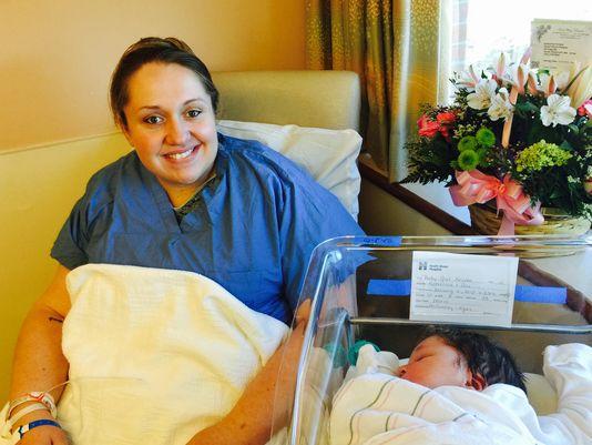 Katherine Kropas with daughter Ellen