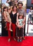 Kathryn Hahn with husband Ethan Sandler and kids Mae and Leonard at At Boxtrolls Premiere