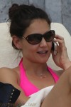 Katie Holmes Chats on her phone in Miami