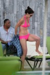 Katie Holmes Relaxes Poolside in Miami, FL