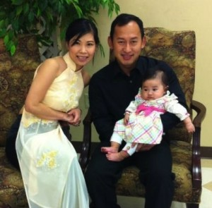 Katie Luong with her daughter Gabriella