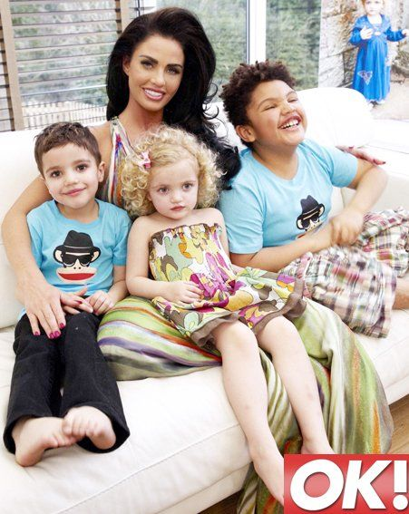 Katie Price with her kids Princess Tiaamii, Harvey and junior