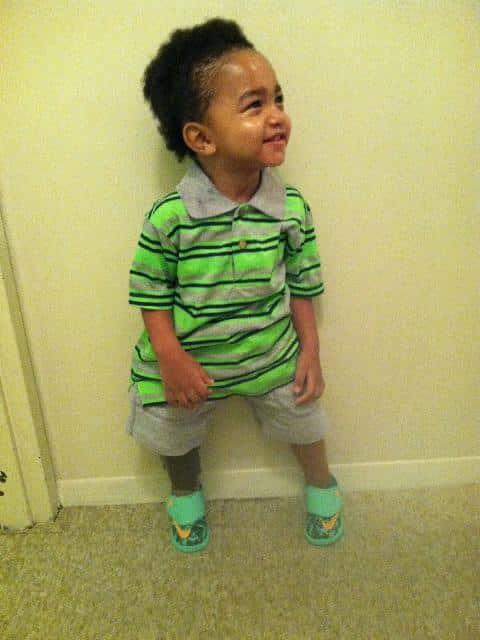Kayden Elijah standing