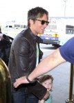 Keith Urban at the airport with his daughter Faith