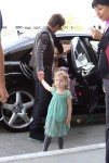 Keith Urban at the airport with his daughter Faith and Sunday