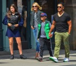 Kelly Ripa & Mark Consuelos out in NYC with their kids Lola and Joaquin
