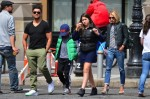 Kelly Ripa and Mark Consuelos out in NYC with their kids Lola and Joaquin