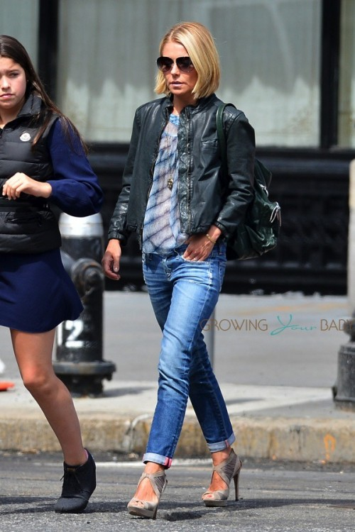 Kelly Ripa out in NYC with her family